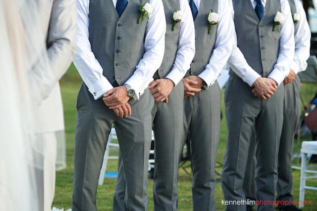 Koh Samui wedding YL Residence groomsmen hands