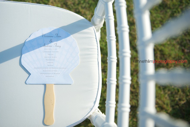 Koh Samui wedding YL Residence outdoor chairs with wedding invite