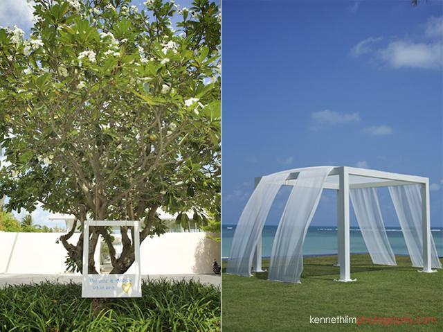Koh Samui weddingYL Residence outdoor decorations and wedding altar