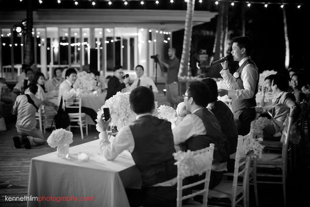 Koh Samui wedding YL Residence outdoor dinner banquet best man speech