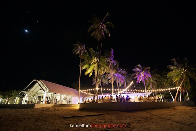 Koh Samui wedding YL Residence outdoor evening venue
