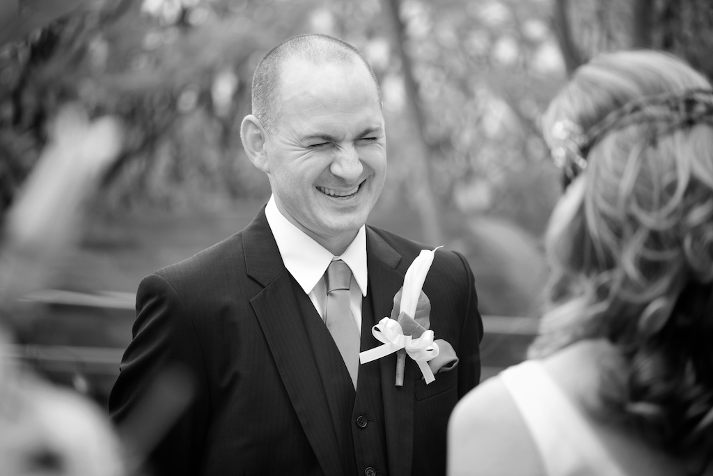 Hong Kong Novotel wedding photography ceremony groom smiling giving vows