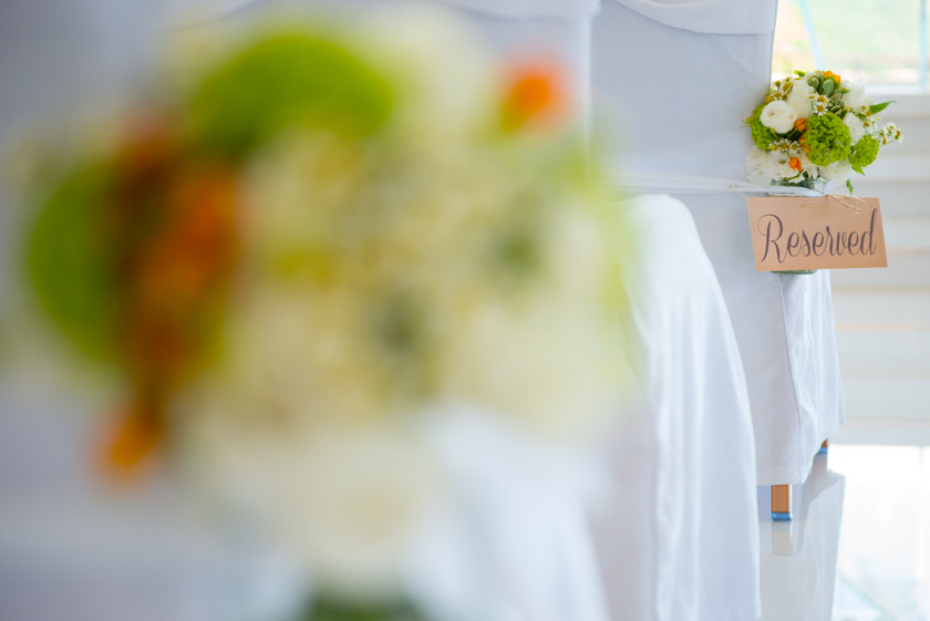 Hong Kong Wedding Photography Discovery Bay Auberge White Chapel decorations reserved sign
