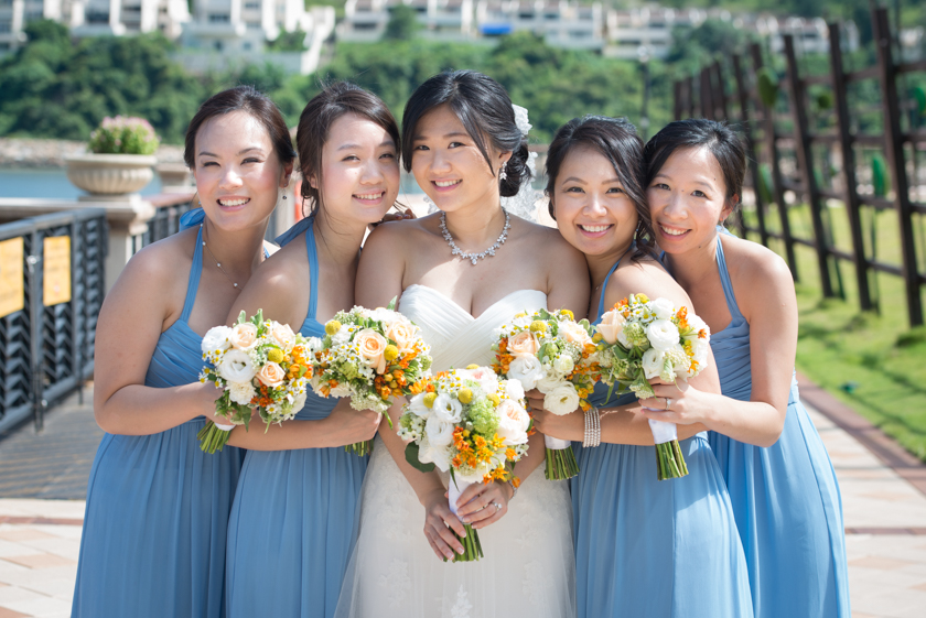 Hong Kong Wedding Photography Discovery Bay Auberge White Chapel bridesmaids portrait session