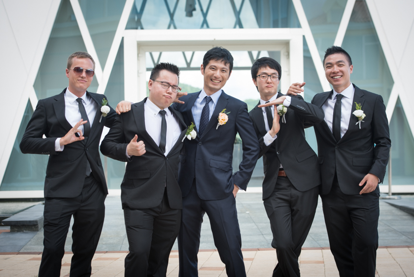 Hong Kong Wedding Photography Discovery Bay Auberge White Chapel groomsmen portrait session