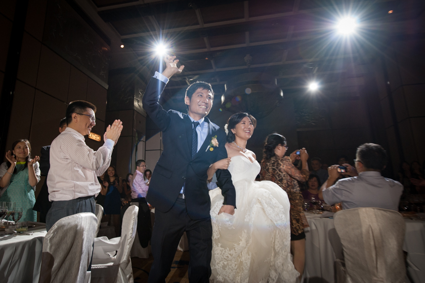Hong Kong Wedding Photography Four Seasons banquet bride groom grand entrance