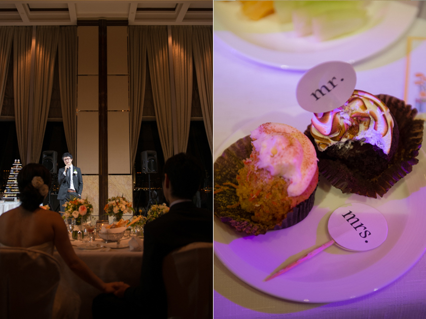 Hong Kong Wedding Photography Four Seasons banquet speech and cake