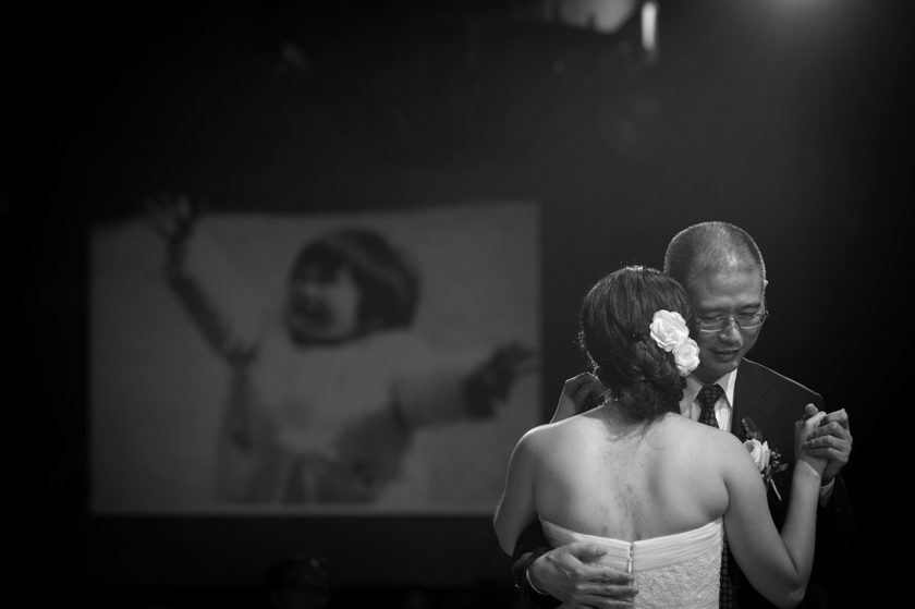 Hong Kong Wedding Photography Four Seasons banquet father and bride dance