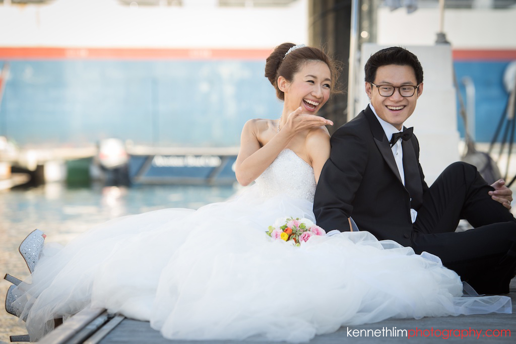 Hong Kong Wedding photography one thirty one bride groom portrait session bride blowing kiss to groom