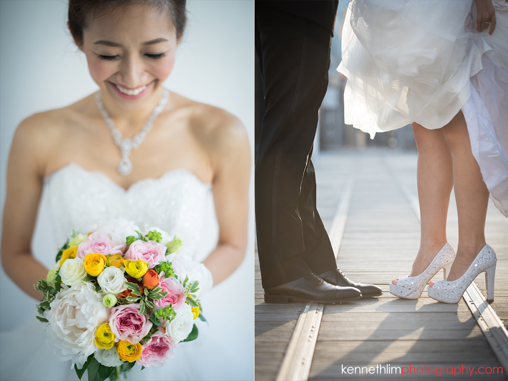 Hong Kong Wedding photography one thirty one bride groom portrait session bride closeup flower