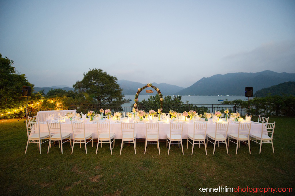 Hong Kong Wedding photography one thirty one bride groom portrait session venue evening dining table