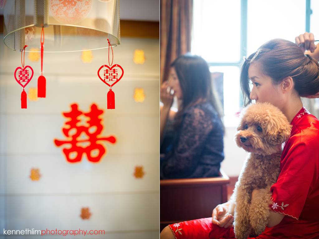 Hong Kong Wedding photography one thirty one morning prep bride getting ready double happiness