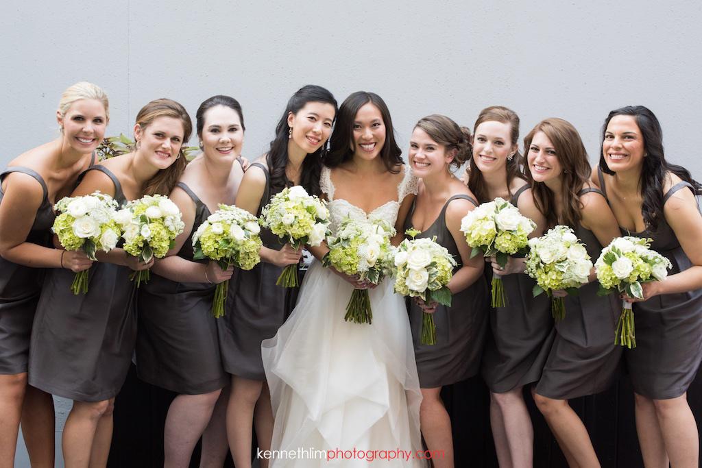Atlanta wedding W Atlanta Hotel big day photography bride and bridesmaids portrait session
