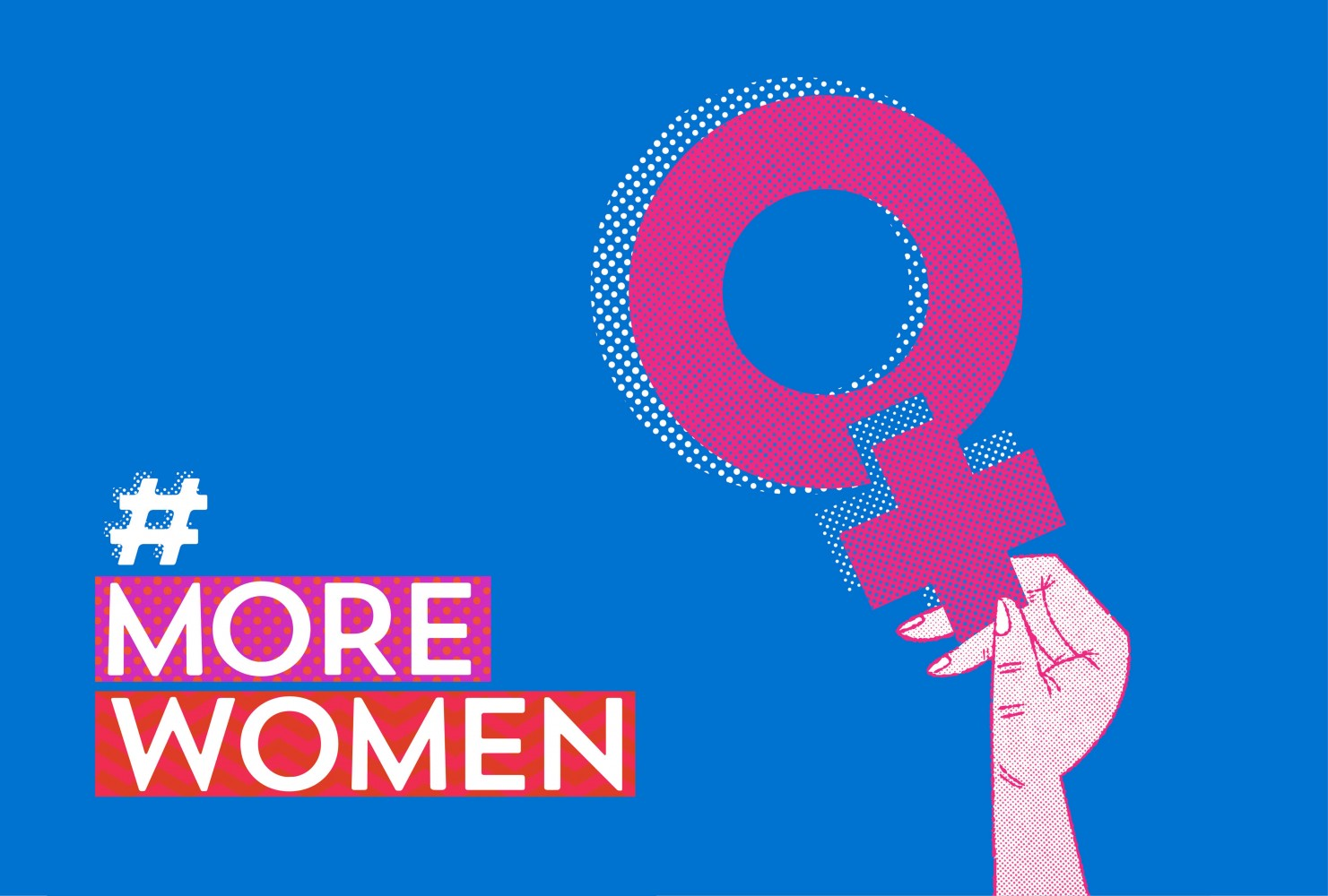 The #MOREWOMEN campaign to support more women in Irish politics, designed by Ruth Martin and Paula McEntee at Red Dog in Dublin. Selected for the 100 Archive 2017.jpg