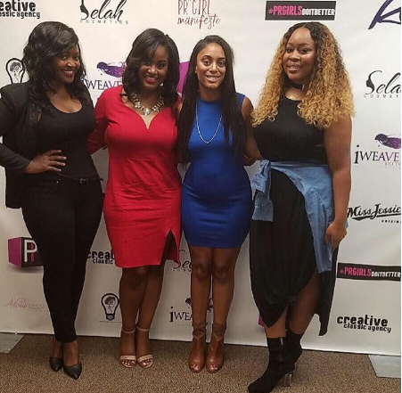 Publicists Lillie Mae, Ronnika Ann, Lindsey Walker and Erica Dias