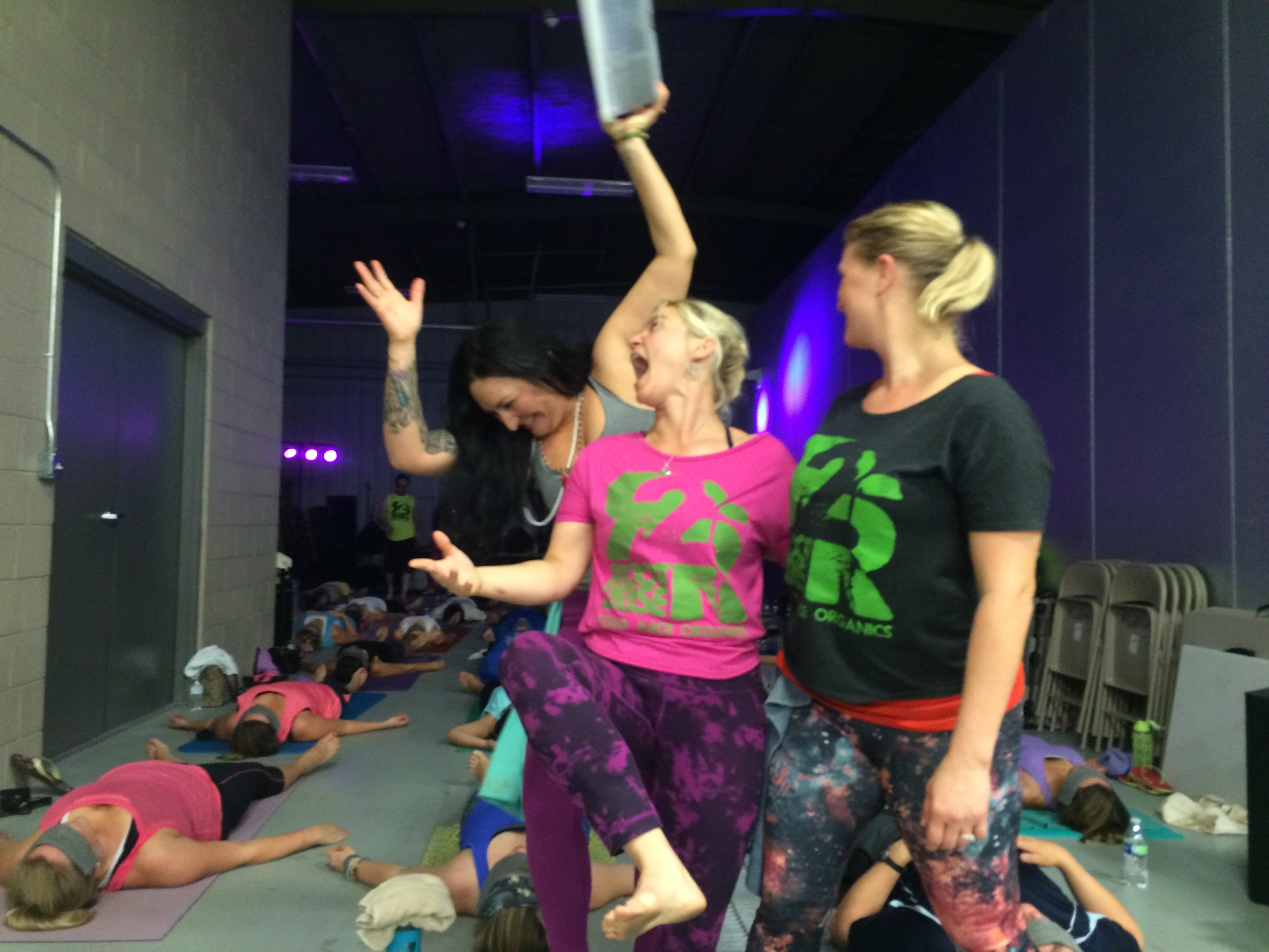 Hot yoga, cold beer event at Mudbug!