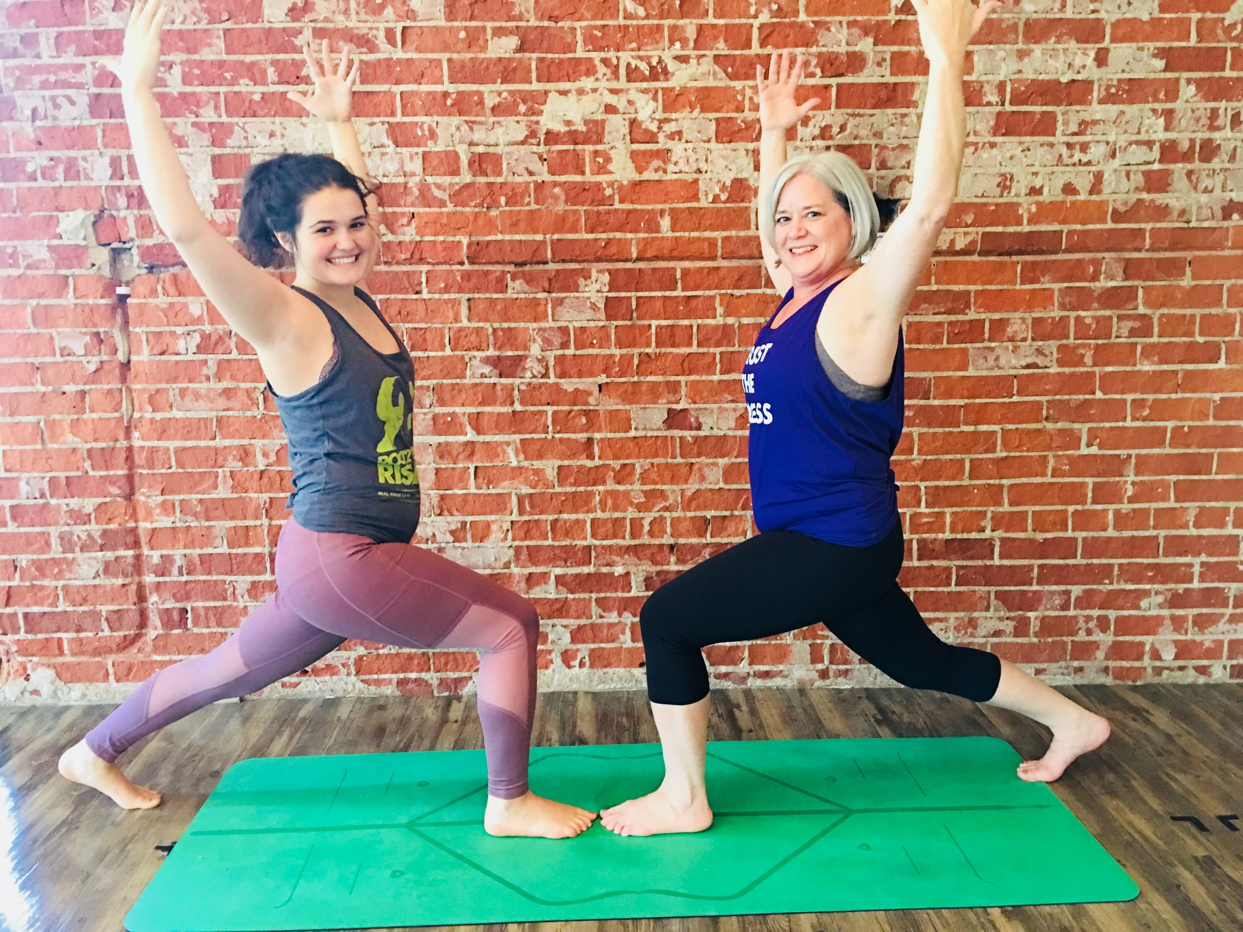 Mother/Daughter Crescent Lunge
