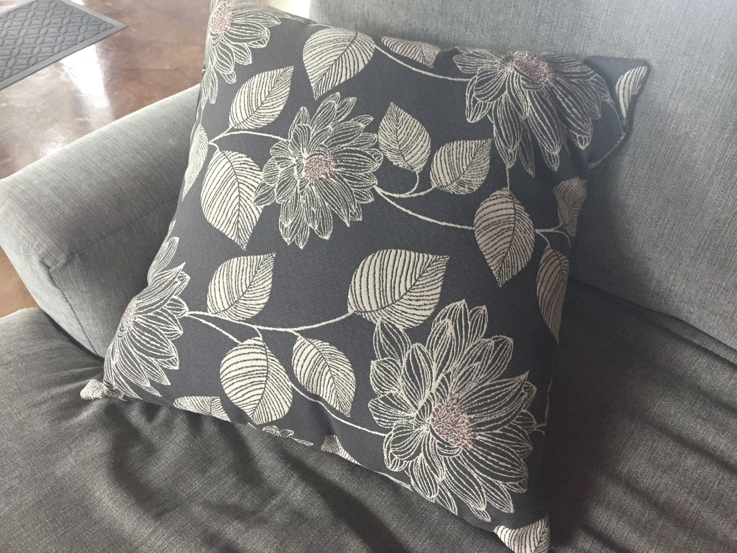 Here is my original pillow that I will be placing into the cover!