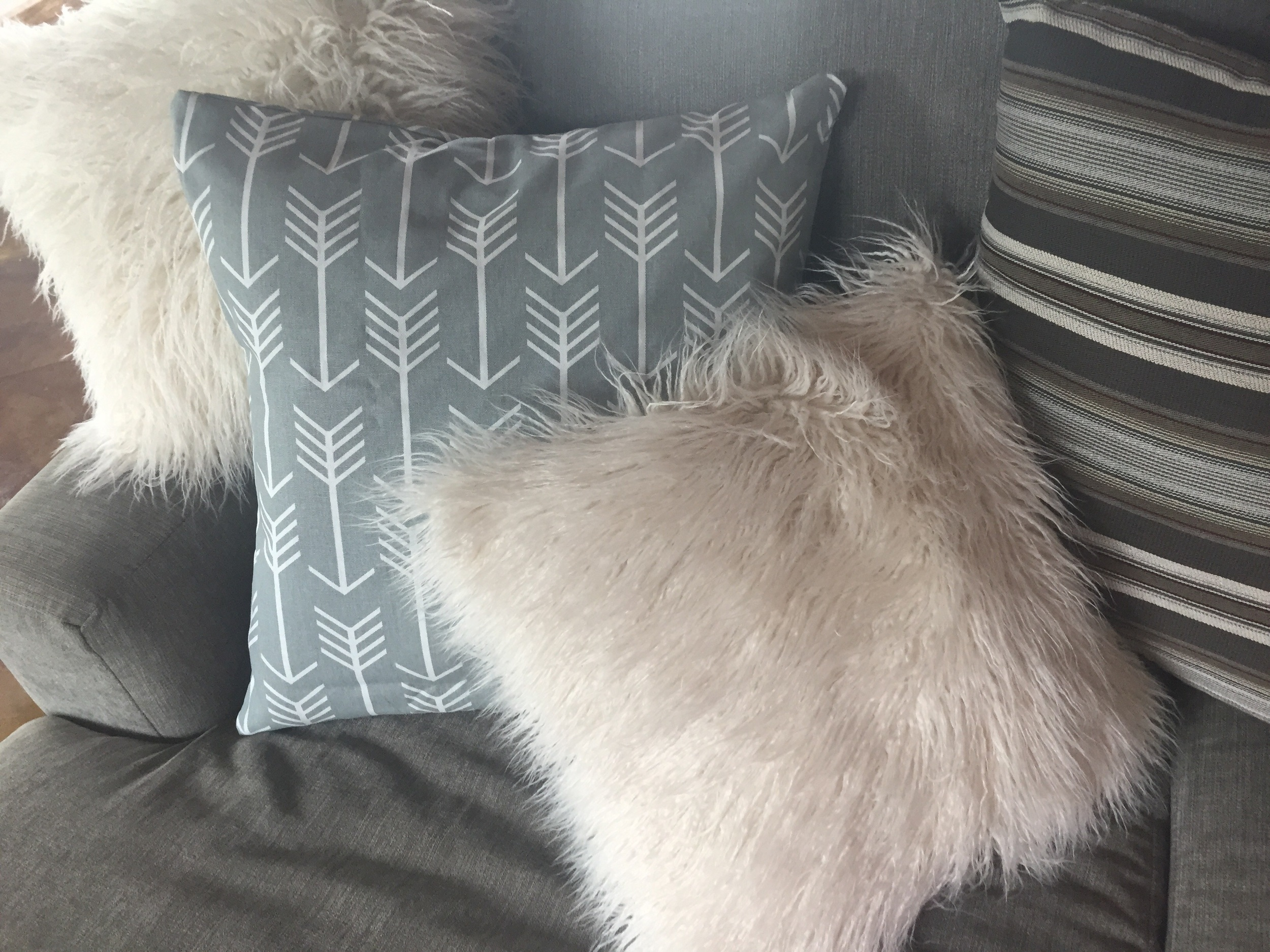 Now my pillows compliment each other and the room nicely!