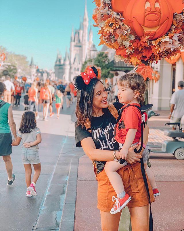 Our little Killian took his first trip to Disney World & finally met his BFF @mickeymouse ♥️ • • • • • • • • #disneyworld #disney #magickingdom #disneybaby #disneymom #momlife #mickeysnotsoscaryhalloweenparty #disneyhalloween #halloween #fall #autumn #fallvibes #mainstreet #pumpkinking