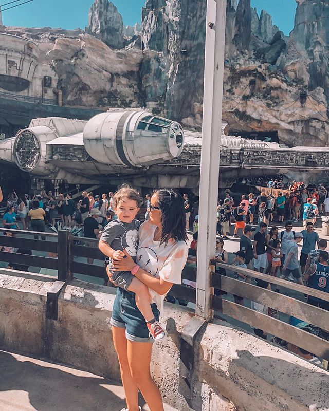 """Those storm troopers were mean to me mommy!"" -Killian #disneyworld #galaxysedge #starwars"