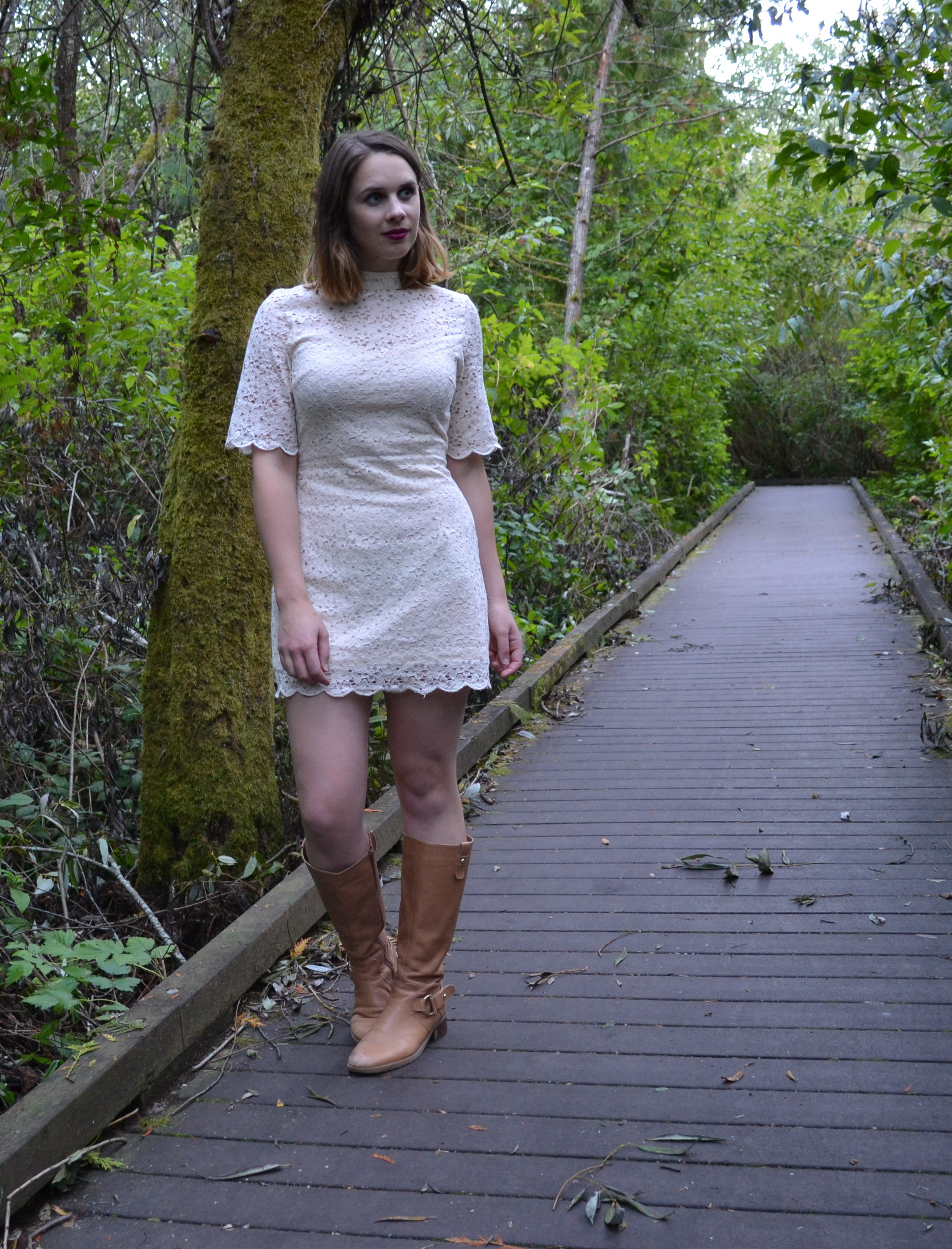cream-lace-high-neck-dress-tan-boots
