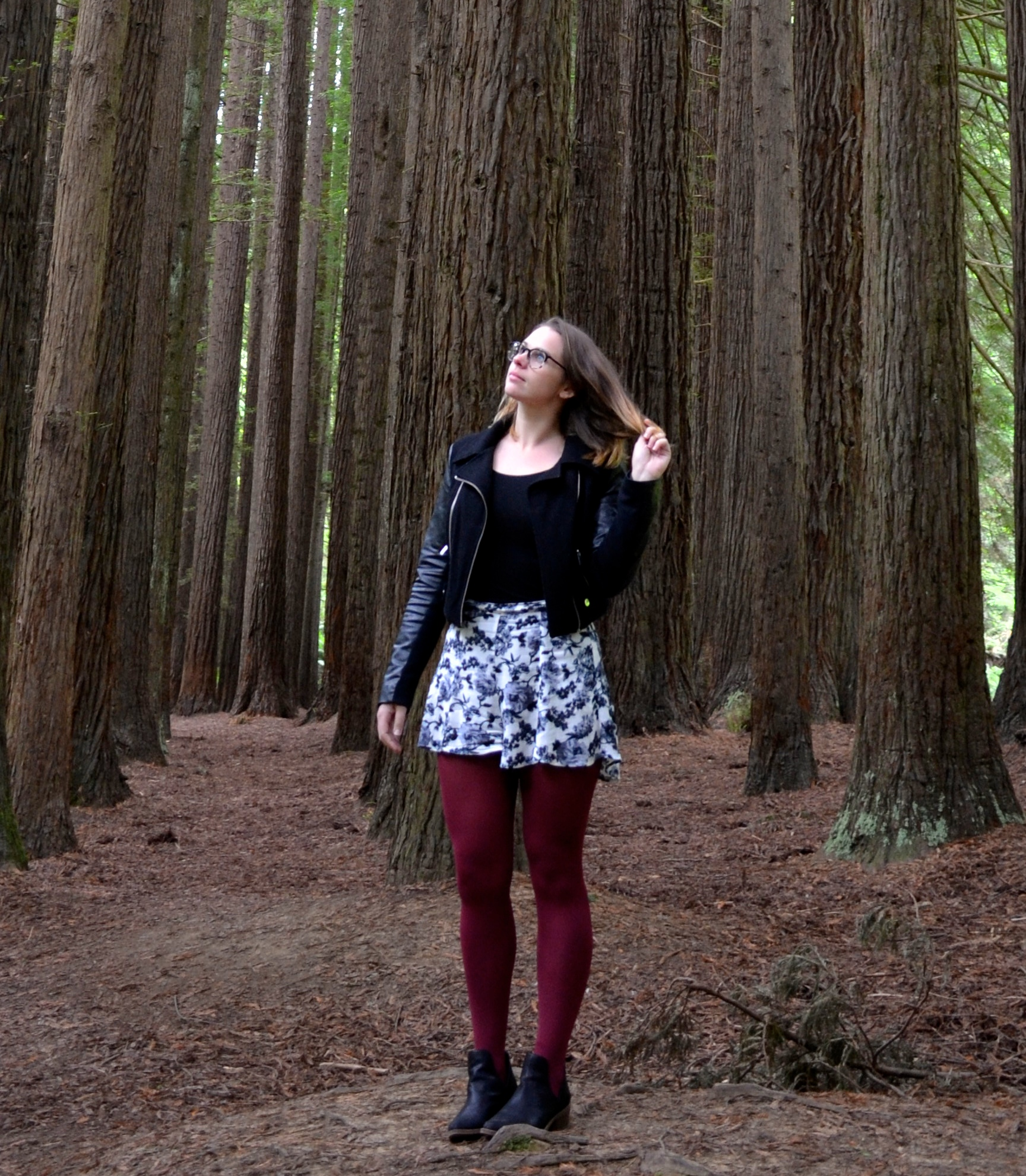 california-redwoods-leather-jacket-red-tights
