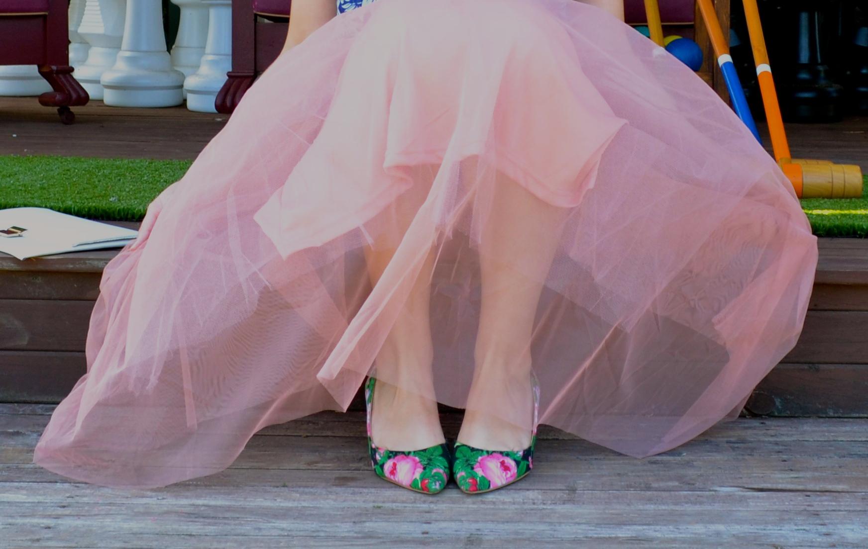 full-tulle-pink-skirt-floral-heels