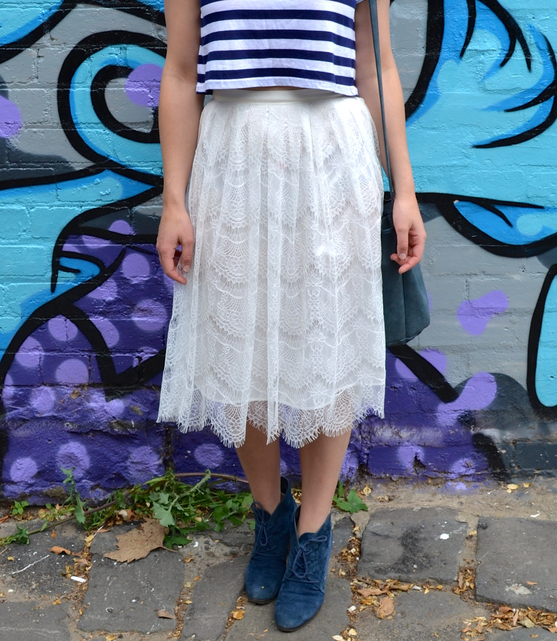 white-lace-midi-skirt-blue-suede-shoes