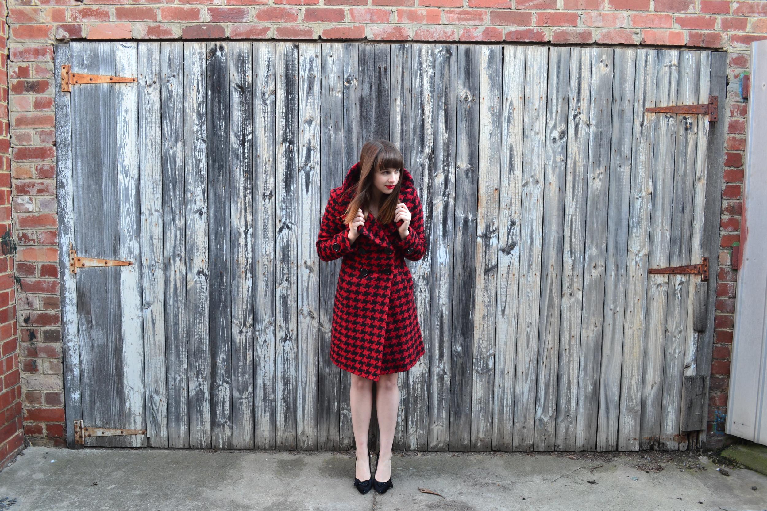 red-houndstooth-winter-coat