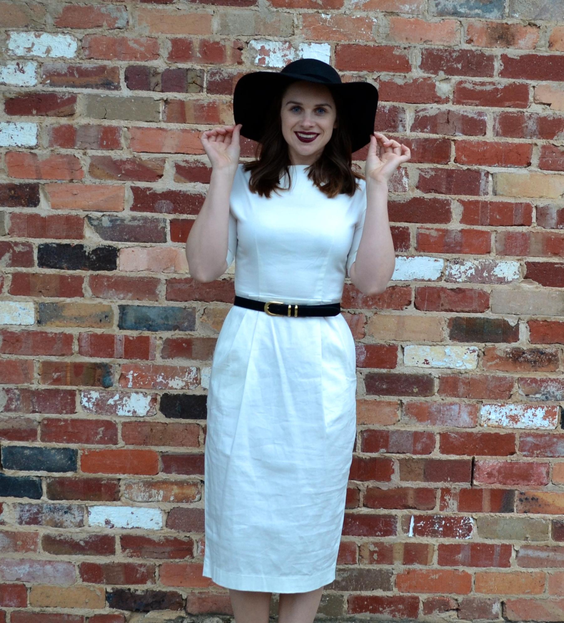 asos-white-midi-dress-felt-hat