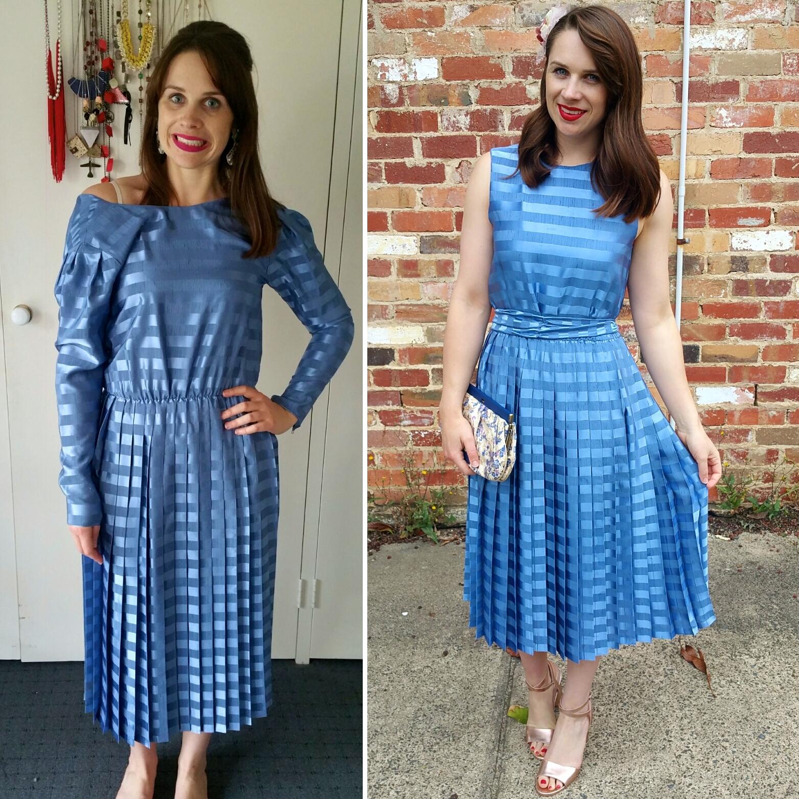 transforming-blue-pleated-dress