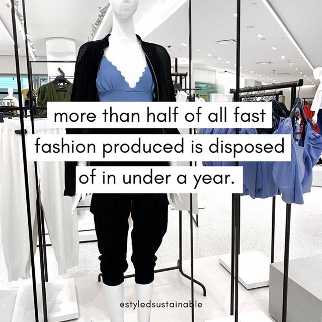 Well this is terrifying...😕 It pays to think about what you're wearing and purchasing. Is it something you'll wear over and over again? Do you really need it? Is this a short lived trend? Will it go with what you have in your wardrobe?  Are you shopping consciously or just because you're bored or it makes you feel better?  As we all are, I'm definitely guilty of shopping because I'm bored but I do try to be very conscious of what I'm purchasing and its a work in progress. In saying that, when I do shop I avoid fast fashion as much as possible and buy things I know I'll love.  #sustainableliving #sustainablefashion #sustainablestyle #reusestyleicon #secondhandnotsecondbest #slowfashion #slowstyle #fastfashion #consciousconsumer #styleblogger #stylediaries #consciousshopping #shoppingwithpurpose #styleoftheday