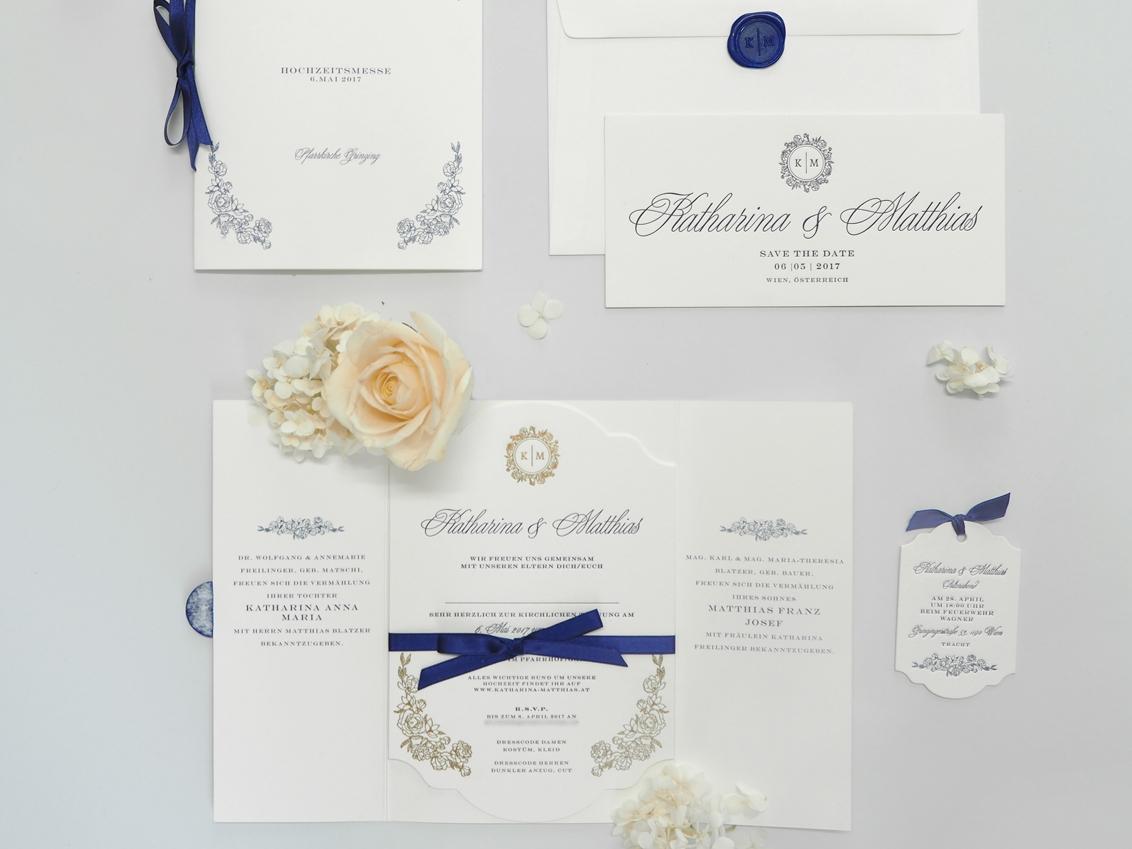 Letterpress wedding invitations, custom designed