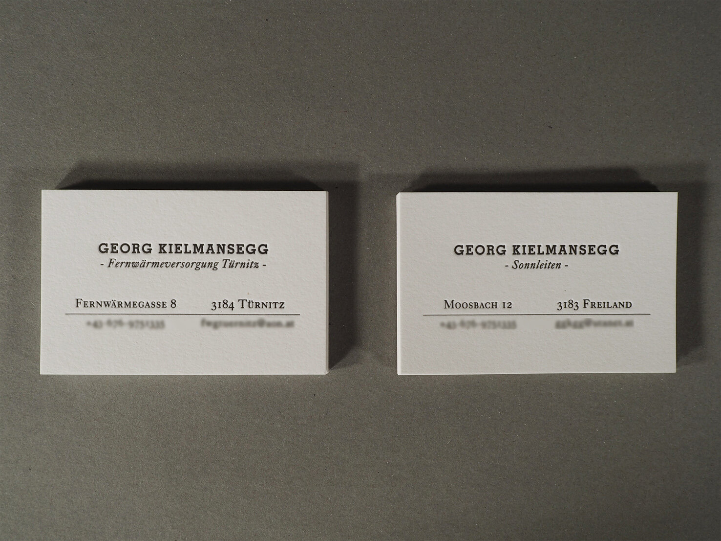 Private and company business cards