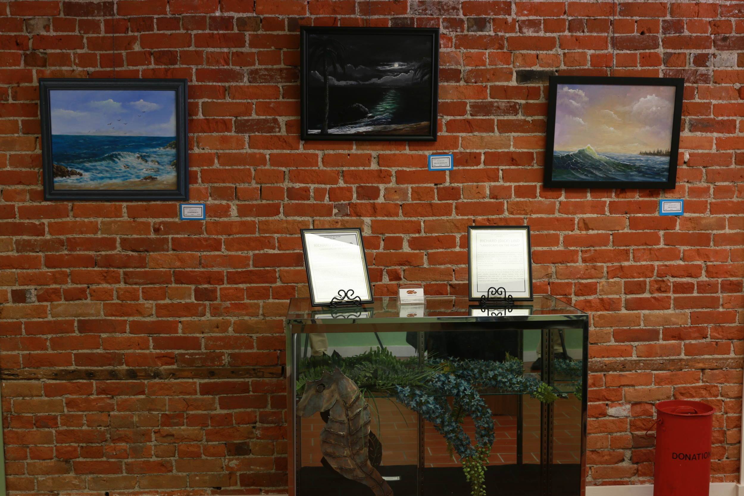 Some of Richard's work currently on display at the gallery