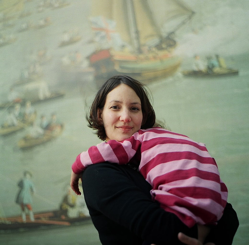 Liz and her sleeping daughter in London Bridge, taken for my Third Culture Kids project, later featured in Huck Magazine