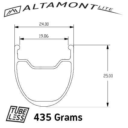 The new Altamont Lite which is lighter by 50 grams.