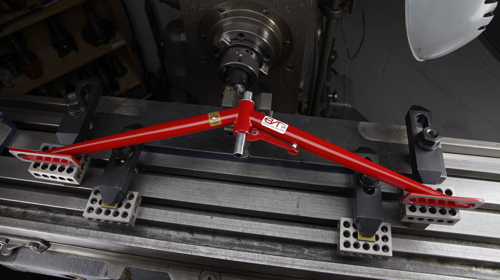 """A look at EVT's dishing tool aptly named the """"Trigger"""". Constructed from Dedaccai fork blades for a lifetime of use."""