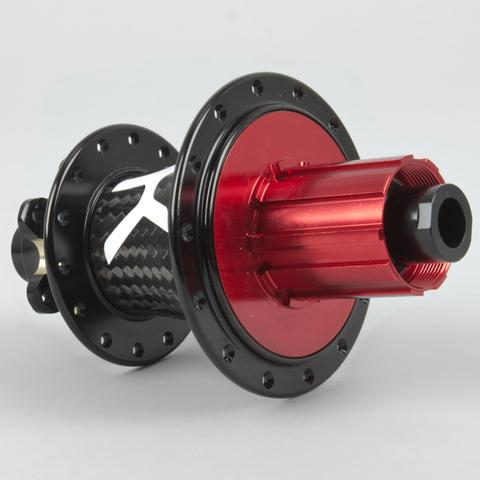 The KH-1.5 with J-bend spoke friendly flanges and a bright red freehub!     Weighing in at 305 grams.