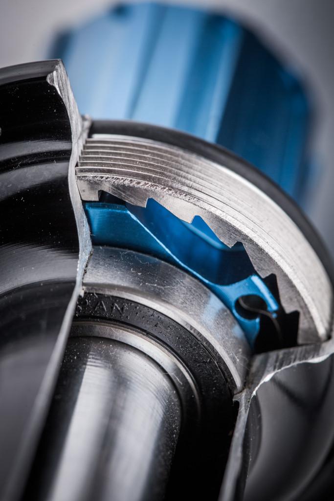 A sneak peek inside the Tune Mag 170 rear hub. A 7075 alloy hub shell enshrouding their proprietary sealed bearings.