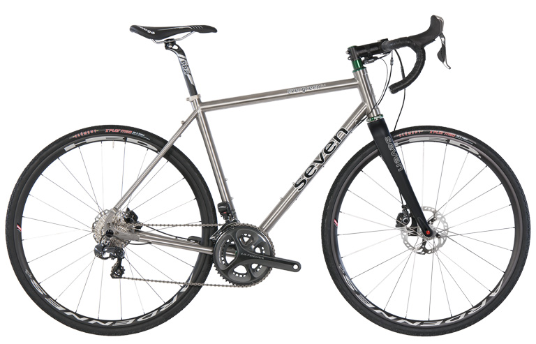 Seven Cycles offers up an ideal gravel machine with their Evergreen SLX , sporting robust disc wheels that can go the distance on all manner of terrain.