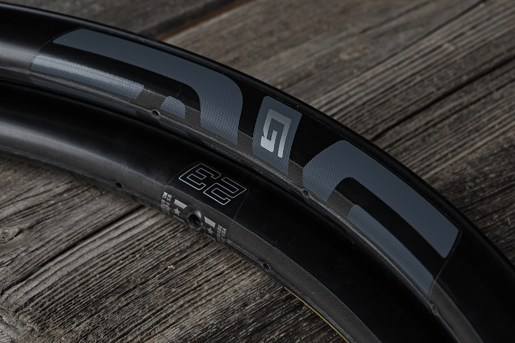 Enve's new G23 disc gravel rim spins up quickly with a featherweight of just 330 grams. Molded spoke beds enable a wafer thin spoke nipple seat that utilises their proprietary 11mm brass spoke nipple. 330 grams pushes the envelope of what can be achieved in a gravel rim designed especially for competitive riders.