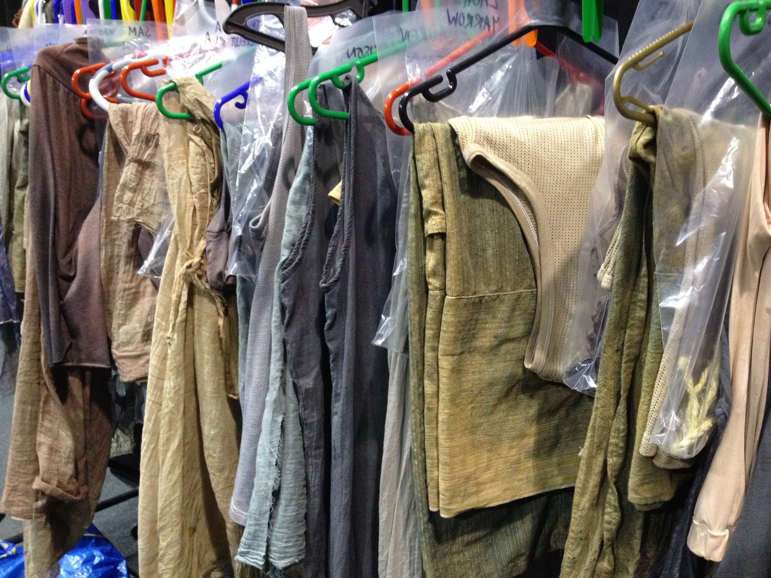 A section of costume rail,  Not The End Of The World