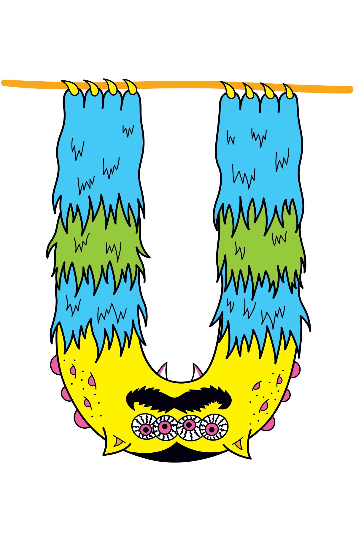 U is for Undead and Upside-down Uncle Uni