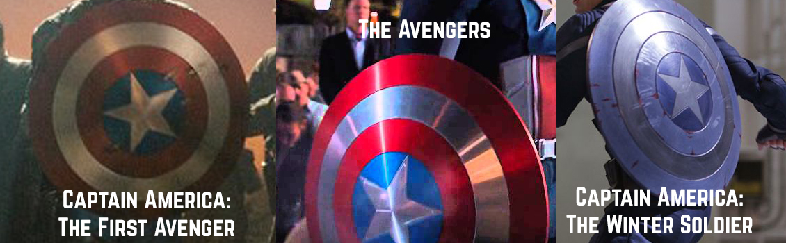 You can always tell what kind of Cap movie you're getting by the look of his shield.