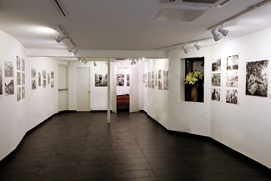 Installation shot of the Picturing Wanteete Exhibition at the Brian Morris Gallery on the Lower East Side of New York City (USA), Spring2015.