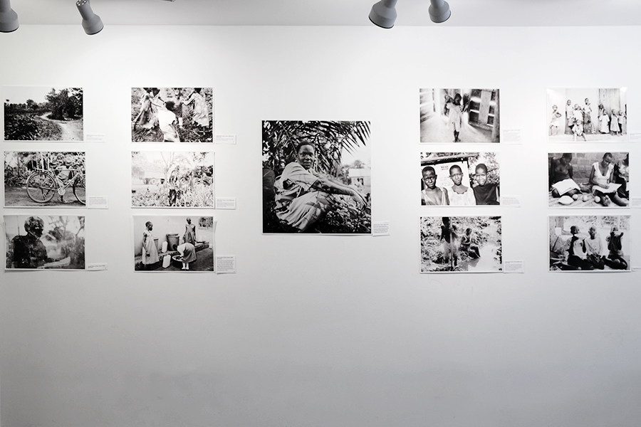 View of one walls arrangement of WPC photos fromthe Picturing Wanteete Exhibition at the Brian Morris Gallery on the Lower East Side of New York City (USA), Spring 2015.