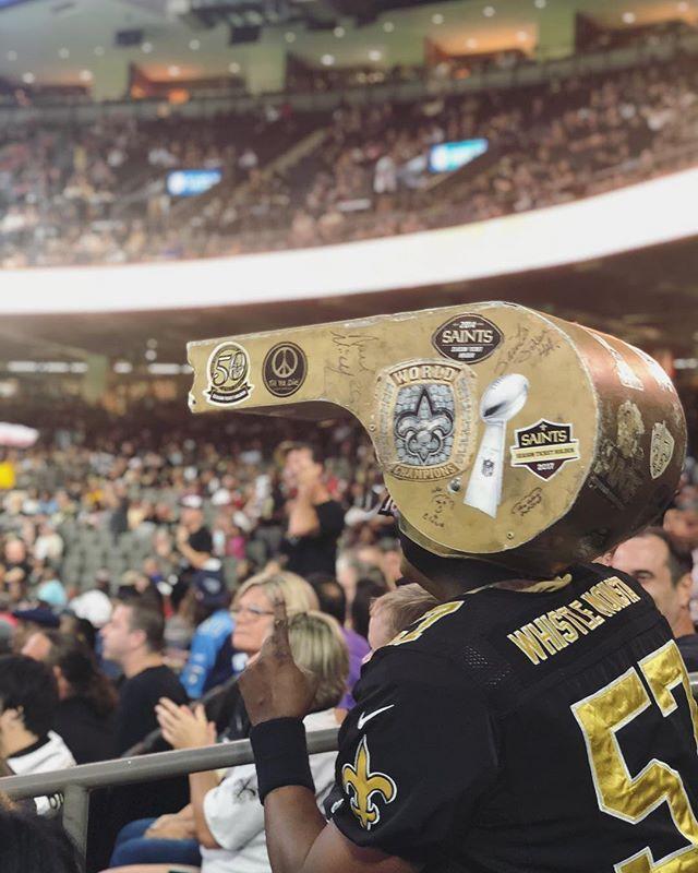 Who Dat? Super Dome, New Orleans, LA #nola #whodat #neworkeanssaints #superdome #whistlemonsta
