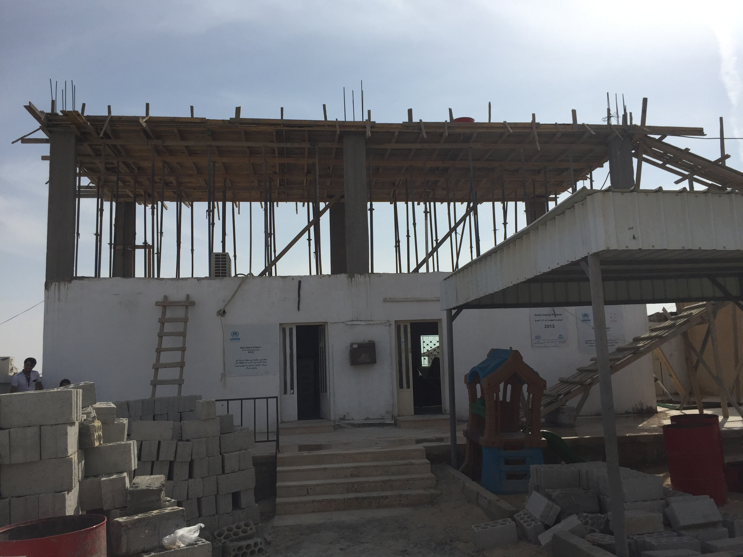 Azraq Library Under Construction.JPG